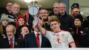 19 January 2019; Peter Harte of Tyrone lifts the Dr McKenna Cup after the Bank of Ireland Dr McKenna Cup Final match between Armagh and Tyrone at the Athletic Grounds in Armagh. Photo by Oliver McVeigh/Sportsfile