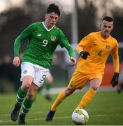 19 January 2019; Dylan Gavin of Republic of Ireland during the U16 International Friendly match between Republic of Ireland and Australia at the FAI National Training Centre in Abbotstown, Dublin. Photo by Stephen McCarthy/Sportsfile