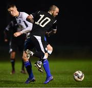 19 January 2019; Raffaele Cretaro of Finn Harps and Seán McSweeney of Limerick during a pre-season friendly match between Finn Harps and Limerick at the AUL Complex in Clonshaugh, Dublin. Photo by Stephen McCarthy/Sportsfile