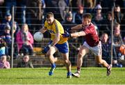 20 January 2019; Cathal Cregg of Roscommon in action against Eoghan Kerin of Galway during the Connacht FBD League Final match between Galway and Roscommon at Tuam Stadium in Galway. Photo by Sam Barnes/Sportsfile