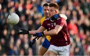 20 January 2019; Eoghan Kerin of Galway in action against Ciaran Lennon of Roscommon during the Connacht FBD League Final match between Galway and Roscommon at Tuam Stadium in Galway. Photo by Sam Barnes/Sportsfile