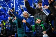 20 January 2019; Leinster supporters watch the teams arrival ahead of the Heineken Champions Cup Pool 1 Round 6 match between Wasps and Leinster at the Ricoh Arena in Coventry, England. Photo by Ramsey Cardy/Sportsfile