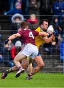 20 January 2019; Donie Smith of Roscommon in action against Eoghan Kerin of Galway during the Connacht FBD League Final match between Galway and Roscommon at Tuam Stadium in Galway. Photo by Sam Barnes/Sportsfile