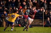 20 January 2019; Barry McHugh of Galway in action against Niall Kilroy of Roscommon during the Connacht FBD League Final match between Galway and Roscommon at Tuam Stadium in Galway. Photo by Sam Barnes/Sportsfile