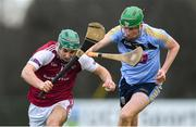 20 January 2019; Evan Niland of NUI Galway in action against Ian O'Shea of UCD during the Electric Ireland Fitzgibbon Cup Round 1 match between University College Dublin and NUI Galway at Billings Park in UCD, Belfield, Dublin. Photo by Piaras Ó Mídheach/Sportsfile
