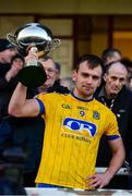 20 January 2019; Enda Smith of Roscommon lifts the cup following the Connacht FBD League Final match between Galway and Roscommon at Tuam Stadium in Galway. Photo by Sam Barnes/Sportsfile