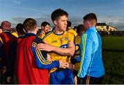 20 January 2019; Ronan Daly of Roscommon is congratulated by teammates following the Connacht FBD League Final match between Galway and Roscommon at Tuam Stadium in Galway. Photo by Sam Barnes/Sportsfile