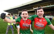 20 January 2019; Matt Keane of Kilcummin, left, celebrates with team-mate Kevin McCarthy following the AIB GAA Football All-Ireland Intermediate Championship semi-final match between Two Mile House and Kilcummin at the Gaelic Grounds in Limerick. Photo by Eóin Noonan/Sportsfile