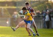 20 January 2019; Cathal Heneghan of Roscommon in action against Barry McHugh of Galway during the Connacht FBD League Final match between Galway and Roscommon at Tuam Stadium in Galway. Photo by Sam Barnes/Sportsfile