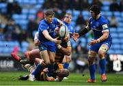20 January 2019; Garry Ringrose offloads to Leinster teammate Seán O'Brien during the Heineken Champions Cup Pool 1 Round 6 match between Wasps and Leinster at the Ricoh Arena in Coventry, England. Photo by Ramsey Cardy/Sportsfile