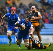 20 January 2019; Seán O'Brien of Leinster is tackled by Gaby Lovobalavu of Wasps during the Heineken Champions Cup Pool 1 Round 6 match between Wasps and Leinster at the Ricoh Arena in Coventry, England. Photo by Ramsey Cardy/Sportsfile