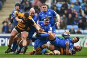 20 January 2019; Jamison Gibson-Park of Leinster is tackled by Tom Cruse of Wasps during the Heineken Champions Cup Pool 1 Round 6 match between Wasps and Leinster at the Ricoh Arena in Coventry, England. Photo by Ramsey Cardy/Sportsfile