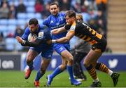 20 January 2019; Robbie Henshaw of Leinster is tackled by Josh Bassett of Wasps during the Heineken Champions Cup Pool 1 Round 6 match between Wasps and Leinster at the Ricoh Arena in Coventry, England. Photo by Ramsey Cardy/Sportsfile