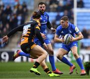 20 January 2019; Jordan Larmour of Leinster in action against Michele Campagnaro of Wasps during the Heineken Champions Cup Pool 1 Round 6 match between Wasps and Leinster at the Ricoh Arena in Coventry, England. Photo by Ramsey Cardy/Sportsfile