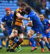 20 January 2019; Seán O'Brien of Leinster is tackled by Will Rowlands of Wasps during the Heineken Champions Cup Pool 1 Round 6 match between Wasps and Leinster at the Ricoh Arena in Coventry, England. Photo by Ramsey Cardy/Sportsfile