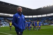 20 January 2019; Leinster senior coach Stuart Lancaster ahead of the Heineken Champions Cup Pool 1 Round 6 match between Wasps and Leinster at the Ricoh Arena in Coventry, England. Photo by Ramsey Cardy/Sportsfile