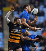 20 January 2019; Adam Byrne, above, and Jamison Gibson-Park of Leinster in action against Elliot Daly of Wasps during the Heineken Champions Cup Pool 1 Round 6 match between Wasps and Leinster at the Ricoh Arena in Coventry, England. Photo by Ramsey Cardy/Sportsfile
