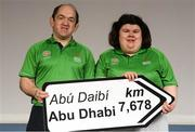 20 January 2019; Hugh Naughton and Chelsea Naughton of Roscommon in attendance at the Special Olympics Ireland official launch Team Ireland for the 2019 Word Summer Games at the Carlton Hotel Tyrellstown in Dublin. Photo by Harry Murphy/Sportsfile