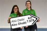 20 January 2019; Amy Delaney and Gemma Steele of Derry in attendance at the Special Olympics Ireland official launch Team Ireland for the 2019 Word Summer Games at the Carlton Hotel Tyrellstown in Dublin. Photo by Harry Murphy/Sportsfile