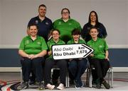 20 January 2019; Athletes and coaches from Co. Antrim back row, from left, Anthony Monaghan, Sarah Thorne, Lee Cambell. Front Row, from left, Grace Hamilton, Sara Shivas, Faye Boyd and Sara Louise Rea in attendance at the Special Olympics Ireland official launch Team Ireland for the 2019 Word Summer Games at the Carlton Hotel Tyrellstown in Dublin. Photo by Harry Murphy/Sportsfile