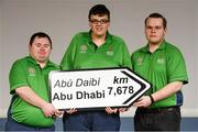 20 January 2019; Athletes from Co. Offaly, from left, Mark Saddler, Damien Breslin and Oisin Feery in attendance at the Special Olympics Ireland official launch Team Ireland for the 2019 Word Summer Games at the Carlton Hotel Tyrellstown in Dublin. Photo by Harry Murphy/Sportsfile