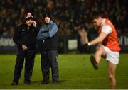 19 January 2019; Armagh Manager Kieran McGeeney, right, along with Jim McCorry Armagh selector during the Bank of Ireland Dr McKenna Cup Final match between Armagh and Tyrone at the Athletic Grounds in Armagh. Photo by Oliver McVeigh/Sportsfile