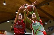 21 January 2019; Anna Dunne of Presentation SS, Thurles, in action against Katie Williamson of Colaiste Pobail Setanta during the Subway All-Ireland Schools Cup U19 B Girls Final match between Colaiste Pobail Setanta and Presentation SS, Thurles at the National Basketball Arena in Tallaght, Dublin. Photo by David Fitzgerald/Sportsfile