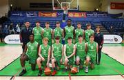 21 January 2019; The Calasanctius College, Oranmore, team prior to the Subway All-Ireland Schools Cup U16 A Boys Final match between Calasantius College and St Joseph's Bish Galway at the National Basketball Arena in Tallaght, Dublin. Photo by David Fitzgerald/Sportsfile