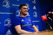 21 January 2019; Conor O'Brien during a Leinster Rugby press conference at Leinster Rugby Headquarters in UCD, Dublin. Photo by Ramsey Cardy/Sportsfile