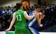 21 January 2019; Aonghus McDonnell of St Joseph's Bish, Galway, in action against Oisin Holland of Calasanctius College, Oranmore, during the Subway All-Ireland Schools Cup U16 A Boys Final match between Calasantius College and St Joseph's Bish Galway at the National Basketball Arena in Tallaght, Dublin. Photo by David Fitzgerald/Sportsfile
