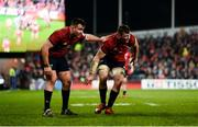 19 January 2019; Niall Scannell and Peter O'Mahony of Munster during the Heineken Champions Cup Pool 2 Round 6 match between Munster and Exeter Chiefs at Thomond Park in Limerick. Photo by Diarmuid Greene/Sportsfile