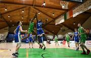 21 January 2019; Roniel Oguekwe of Calasanctius College, Oranmore, in action against Tony Ezeonu of St Joseph's Bish, Galway, during the Subway All-Ireland Schools Cup U16 A Boys Final match between Calasantius College and St Joseph's Bish Galway at the National Basketball Arena in Tallaght, Dublin. Photo by David Fitzgerald/Sportsfile