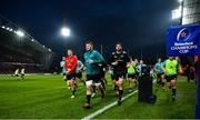 19 January 2019; Munster players including Chris Farrell, Peter O'Mahony, and Jean Kleyn make their way into the dressing room prior to the Heineken Champions Cup Pool 2 Round 6 match between Munster and Exeter Chiefs at Thomond Park in Limerick. Photo by Diarmuid Greene/Sportsfile