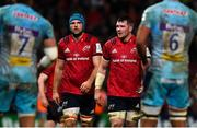 19 January 2019; Tadhg Beirne and Peter O'Mahony of Munster during the Heineken Champions Cup Pool 2 Round 6 match between Munster and Exeter Chiefs at Thomond Park in Limerick. Photo by Diarmuid Greene/Sportsfile