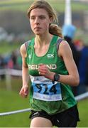 19 January 2019; Eilish O'Grady of Ireland competing in the Senior International Womens race during the IAAF Northern Ireland International Cross Country at the Billy Neill Centre of Excellence in Belfast, Co Antrim. Photo by Oliver McVeigh/Sportsfile