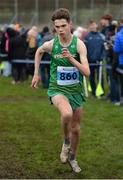19 January 2019; Shay McAvoy of Ireland competing in the U20 IAAFJunior mens race during the IAAF Northern Ireland International Cross Country at the Billy Neill Centre of Excellence in Belfast, Co Antrim. Photo by Oliver McVeigh/Sportsfile