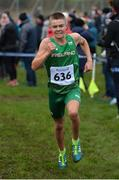 19 January 2019; Scott Fagan of Ireland competing in the U17 boys race during the IAAF Northern Ireland International Cross Country at the Billy Neill Centre of Excellence in Belfast, Co Antrim. Photo by Oliver McVeigh/Sportsfile