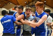 21 January 2019; St Joseph's Bish, Galway players and fans celebrate following the Subway All-Ireland Schools Cup U16 A Boys Final match between Calasantius College and St Joseph's Bish Galway at the National Basketball Arena in Tallaght, Dublin. Photo by David Fitzgerald/Sportsfile