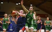 21 January 2019; Eimear Treacy of St Mary's Ballina in action against Anna Prendergast of Scoil Ruain Killenaule during the Subway All-Ireland Schools Cup U16 B Girls Final match between Scoil Ruain Killenaule and St Mary's Ballina at the National Basketball Arena in Tallaght, Dublin. Photo by David Fitzgerald/Sportsfile