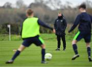 21 January 2019; Dundalk head coach Vinny Perth, centre, during the FAI UEFA Pro Licence course at Johnstown House in Enfield, County Meath. Photo by Seb Daly/Sportsfile