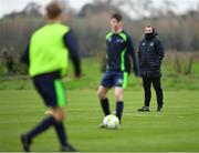 21 January 2019; Dundalk head coach Vinny Perth, right, during the FAI UEFA Pro Licence course at Johnstown House in Enfield, County Meath. Photo by Seb Daly/Sportsfile