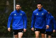 21 January 2019; Rob Kearney, left, and Noel Reid arrive for Leinster Rugby squad training at Rosemount in UCD, Dublin. Photo by Ramsey Cardy/Sportsfile