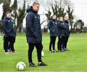 21 January 2019; Celtic FC Reserve team coach, and former Republic of Ireland international, Damien Duff during the FAI UEFA Pro Licence course at Johnstown House in Enfield, County Meath. Photo by Seb Daly/Sportsfile