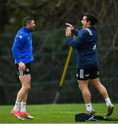 21 January 2019; Rob Kearney, left, and James Lowe during Leinster Rugby squad training at Rosemount in UCD, Dublin. Photo by Ramsey Cardy/Sportsfile