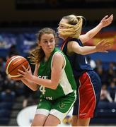 21 January 2019; Anna Prendergast of Scoil Ruain Killenaule in action against Georgia Murphy of St Mary's Ballina during the Subway All-Ireland Schools Cup U16 B Girls Final match between Scoil Ruain Killenaule and St Mary's Ballina at the National Basketball Arena in Tallaght, Dublin. Photo by David Fitzgerald/Sportsfile