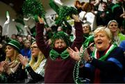 21 January 2019; Scoil Ruain Killenaule supporters celebrate a score during the Subway All-Ireland Schools Cup U16 B Girls Final match between Scoil Ruain Killenaule and St Mary's Ballina at the National Basketball Arena in Tallaght, Dublin. Photo by David Fitzgerald/Sportsfile