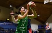 21 January 2019; Niamh Hayes of Scoil Ruain Killenaule in action against George Murphy of St Mary's Ballina during the Subway All-Ireland Schools Cup U16 B Girls Final match between Scoil Ruain Killenaule and St Mary's Ballina at the National Basketball Arena in Tallaght, Dublin. Photo by David Fitzgerald/Sportsfile