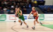 21 January 2019; Georgia Murphy of St Mary's Ballina in action against Jess Strappe of Scoil Ruain Killenaule during the Subway All-Ireland Schools Cup U16 B Girls Final match between Scoil Ruain Killenaule and St Mary's Ballina at the National Basketball Arena in Tallaght, Dublin. Photo by David Fitzgerald/Sportsfile