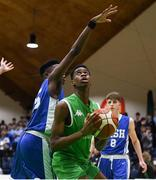 21 January 2019; Roniel Oguekwe of Calasanctius College in action against Tony Ezeonu of St Joseph's Bish, Galway during the Subway All-Ireland Schools Cup U16 A Boys Final match between Calasantius College and St Joseph's Bish Galway at the National Basketball Arena in Tallaght, Dublin. Photo by David Fitzgerald/Sportsfile