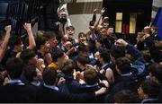 21 January 2019; St Pats Navan players celebrate with their supporters following the Subway All-Ireland Schools Cup U16 B Boys Final match between St Pats Navan and Colaiste Muire Crosshaven at the National Basketball Arena in Tallaght, Dublin. Photo by David Fitzgerald/Sportsfile